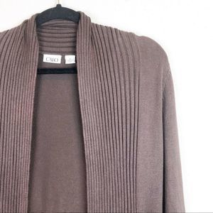 Cato Brown Open Cardigan Sweater